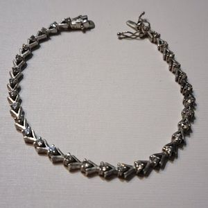 Jewelry - White Sapphires Sterling Silver Tennis Braclet